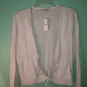 Cropped tie front shrug